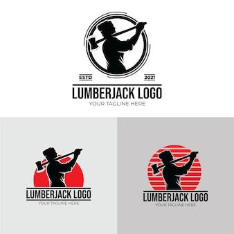 Inspiration für holzfäller-logo-designvorlagen
