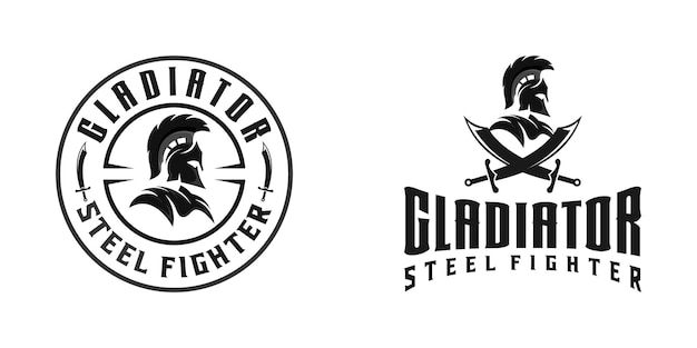 Inspiration für logovorlage für spartaner oder gladiatorenkrieger