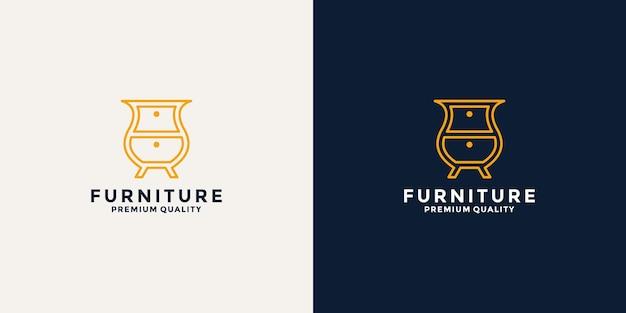 Inspiration für minimalistisches möbel-logo-design für ihr unternehmen