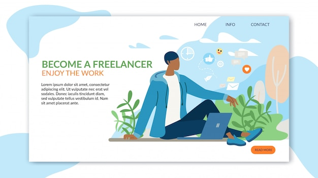 Inspiration landing page advertising freiberuflicher job