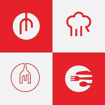 Inspirationspaket für restaurant-logo-design