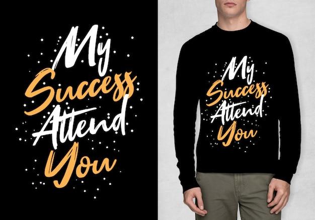Inspirationstypographie für t-shirt
