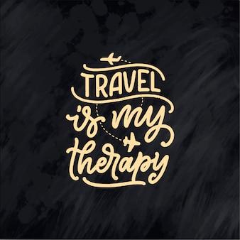 Inspirationszitat des reiselebensstils