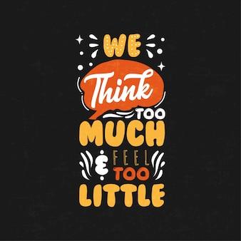 Inspirierend - motivierende typografiezitate