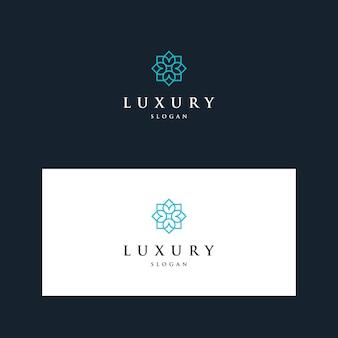 Inspirierende ausgefallene blumen-design-logos