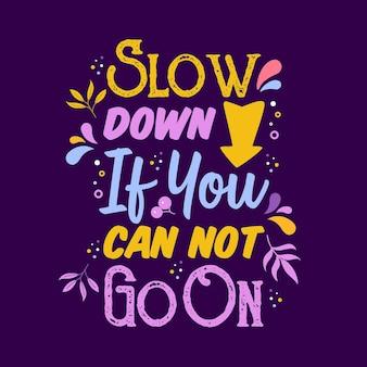 Inspirierende kreative motivation zitat poster vorlage. vektor-typografie-banner-design-hintergrund. handgezeichnetes inspirierendes und motivierendes zitat.