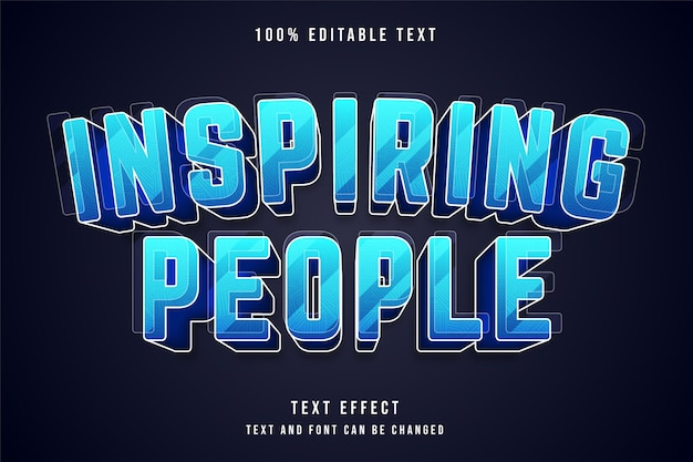 Inspirierende menschen bearbeitbarer texteffekt
