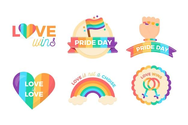 Inspirierende pride day etiketten design