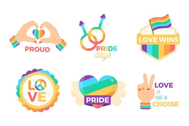Inspirierende pride day labels stil