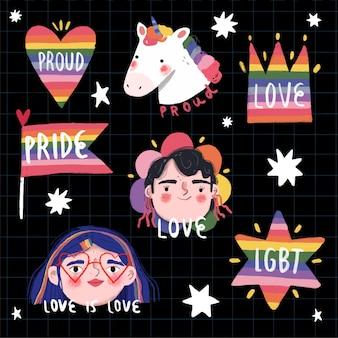 Inspirierende pride day labels