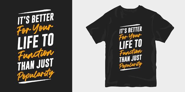 Inspirierende wörter typografie schriftzug t-shirt design