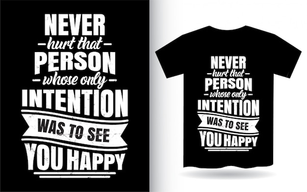 Inspirierende zitatbeschriftung design für t-shirt