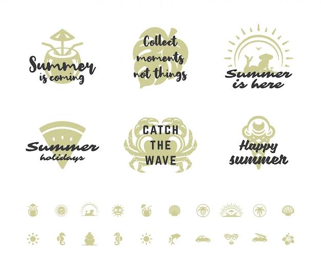 Inspirierende zitate der sommerferientypographie