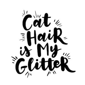 Inspirierende zitate über katzen und haustiere. handgeschriebene sätze.