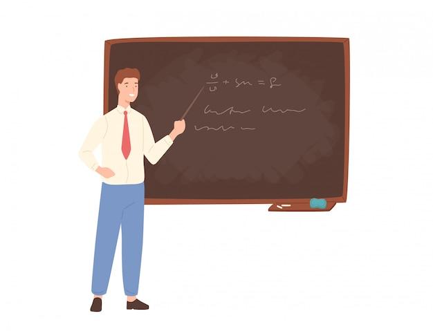 Inspirierender männlicher schullehrer, universitätsprofessor