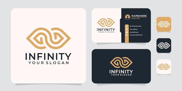 Inspirierender moderner infinity-logo-stil für unternehmen