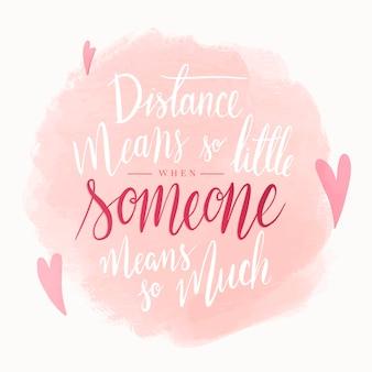 Inspirierender romantischer text