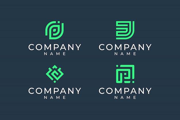 Inspirierendes abstraktes logo-design-bundle