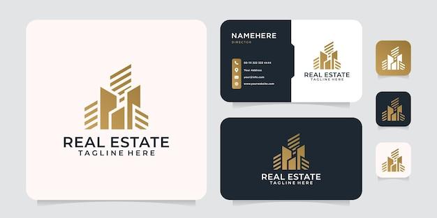 Inspirierendes firmenlogo mit farbverlauf für immobilien