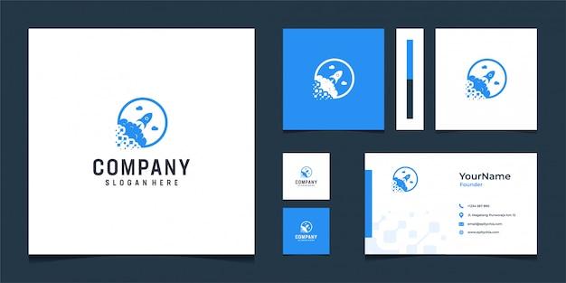 Inspirierendes logo-bündel in abstrakter form
