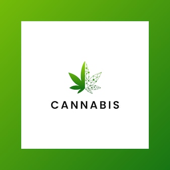 Inspirierendes logo cbd, marihuana, cannabis