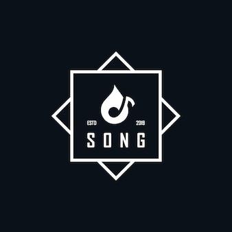 Inspirierendes logo gestaltet negative raumtöne