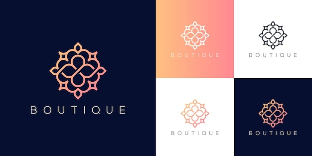 Inspirierendes luxus-boutique-logo-design