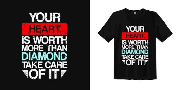 Inspirierendes wort über liebe, leben und romantik. t-shirt design typografie