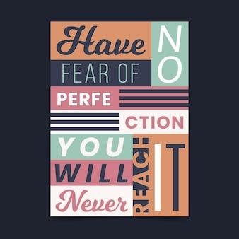 Inspirierendes zitat typografisches plakat