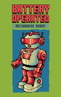 Inspiriert von den beliebten science-fiction-filmen der 80er bis 90er jahre und elektronischem spielzeug gemischt mit pixelkunst-illustrationen.