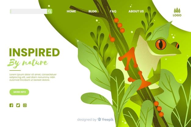 Inspiriert von der natur webvorlage