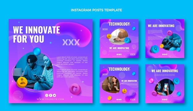 Instagram-beiträge mit gradient fluid technology