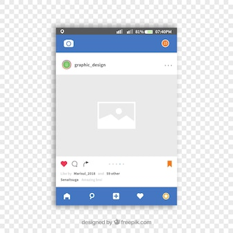 Instagram beitrag mit transparentem hintergrund