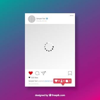 Instagram beitragsvorlage mit benachrichtigungen