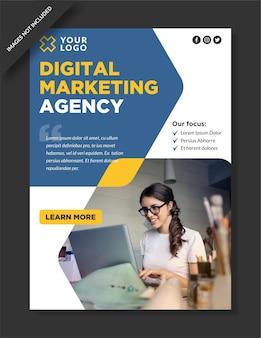 Instagram-designvorlage der agentur für digitales marketing