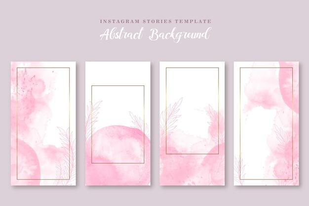 Instagram geschichte rosa aquarell abstrakte vorlage