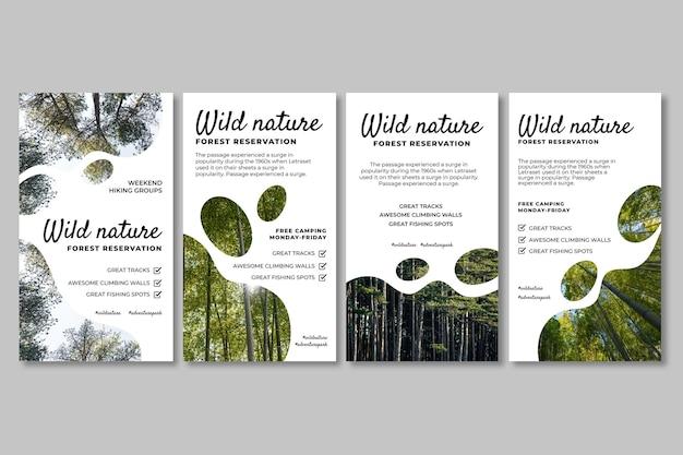 Instagram-geschichten aus der wilden natur