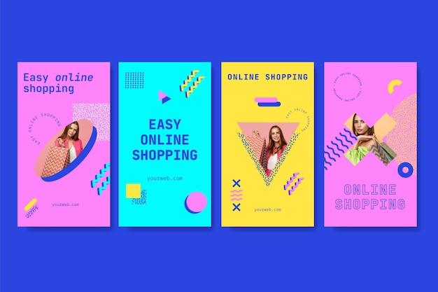 Instagram-geschichten beim online-shopping