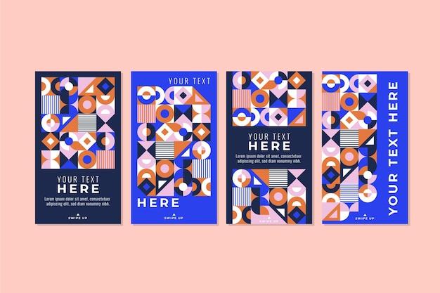 Instagram-geschichten mit flachem mosaik