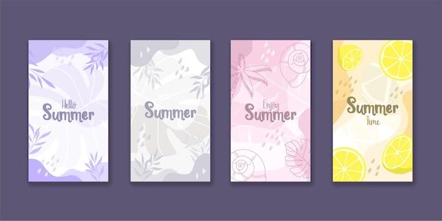 Instagram-geschichten-sammlung für den sommer