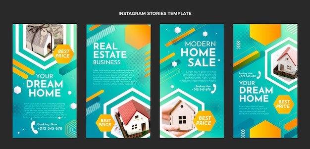 Instagram-geschichten über gradientenimmobilien