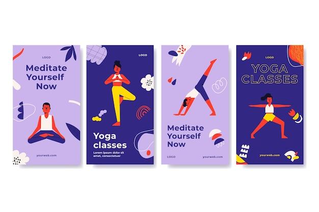 Instagram-geschichten über yoga