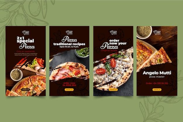 Instagram-geschichten von pizzarestaurants