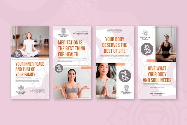 Instagram-geschichten zu meditation und achtsamkeit
