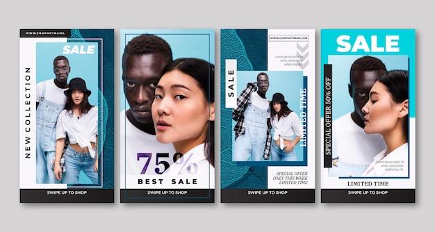 Instagram-geschichten zum verkauf mit farbverlauf