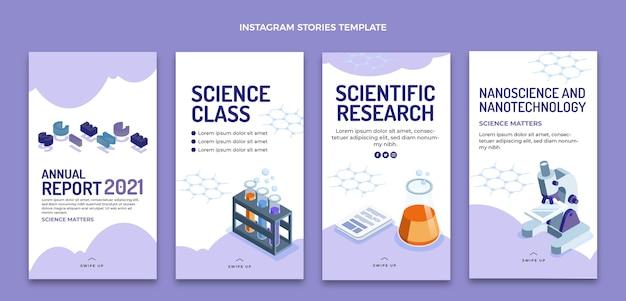 Instagram-geschichten zur isometrischen wissenschaft