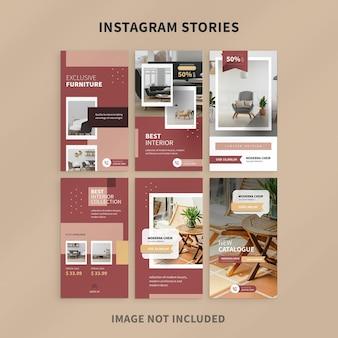 Instagram-geschichten zur möbelwerbung
