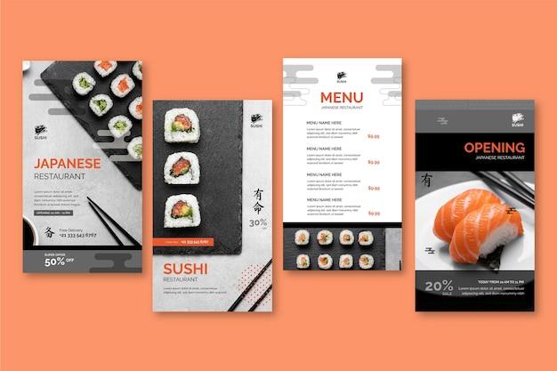Instagram-geschichtensammlung für japanische restaurants restaurant
