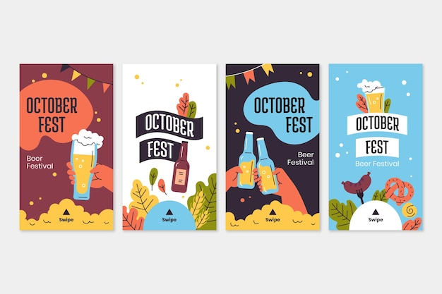 Instagram-geschichtensammlung zum oktoberfest