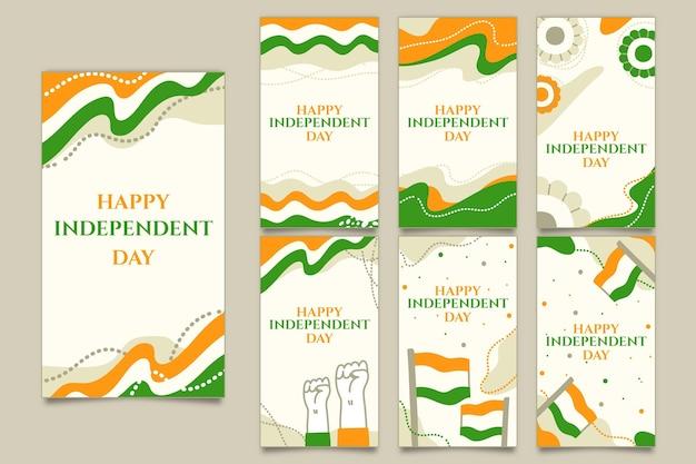 Instagram-geschichtensammlung zum unabhängigkeitstag von indien